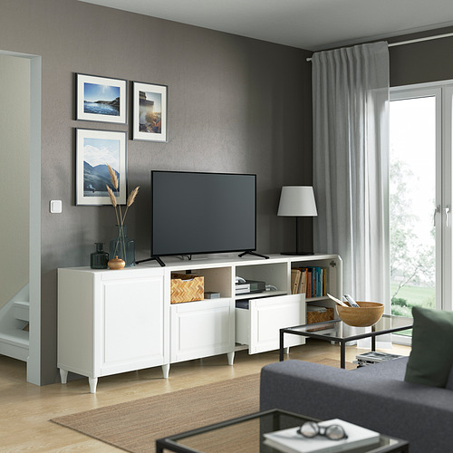 BESTÅ - 電視几連抽屜/門, white/Smeviken/Kabbarp white | IKEA 香港及澳門 - PE821677_S4