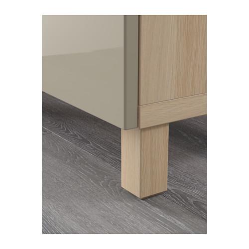 BESTÅ - 貯物組合連抽屜, white stained oak effect/Selsviken/Stubbarp high-gloss/beige | IKEA 香港及澳門 - PE561902_S4