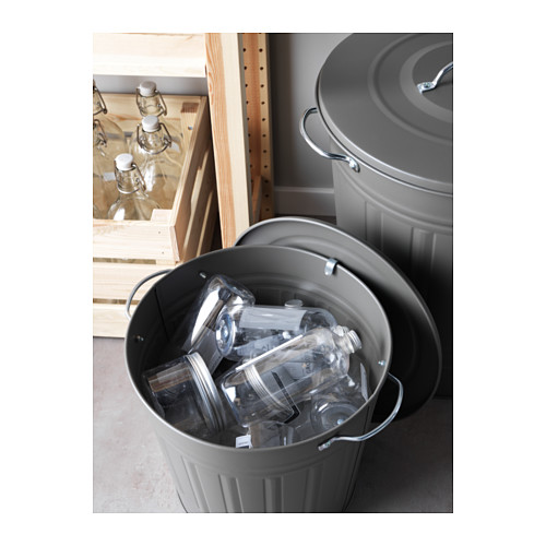 KNODD - bin with lid, grey | IKEA Hong Kong and Macau - PE561907_S4