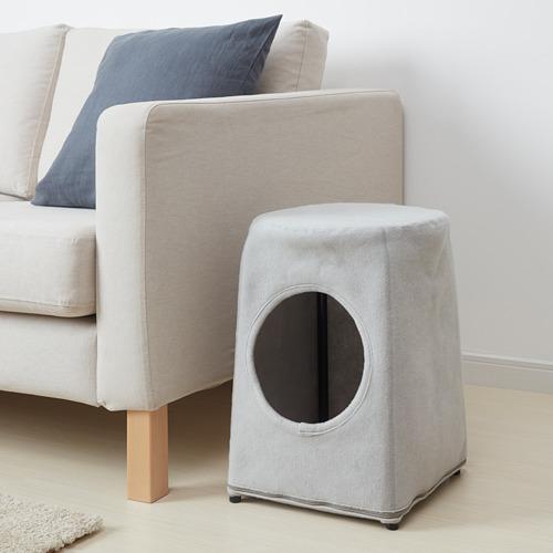 LURVIG - 貓屋連凳, 淺灰色/黑色 | IKEA 香港及澳門 - PE765906_S4