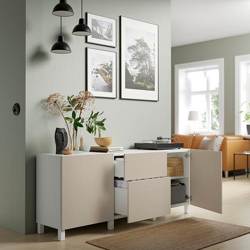 BESTÅ - 貯物組合連抽屜, white Lappviken/Stubbarp/light grey/beige | IKEA 香港及澳門 - PE821686_S4