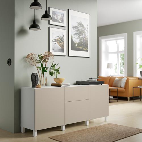 BESTÅ - 貯物組合連抽屜, white Lappviken/Stubbarp/light grey/beige | IKEA 香港及澳門 - PE821691_S4