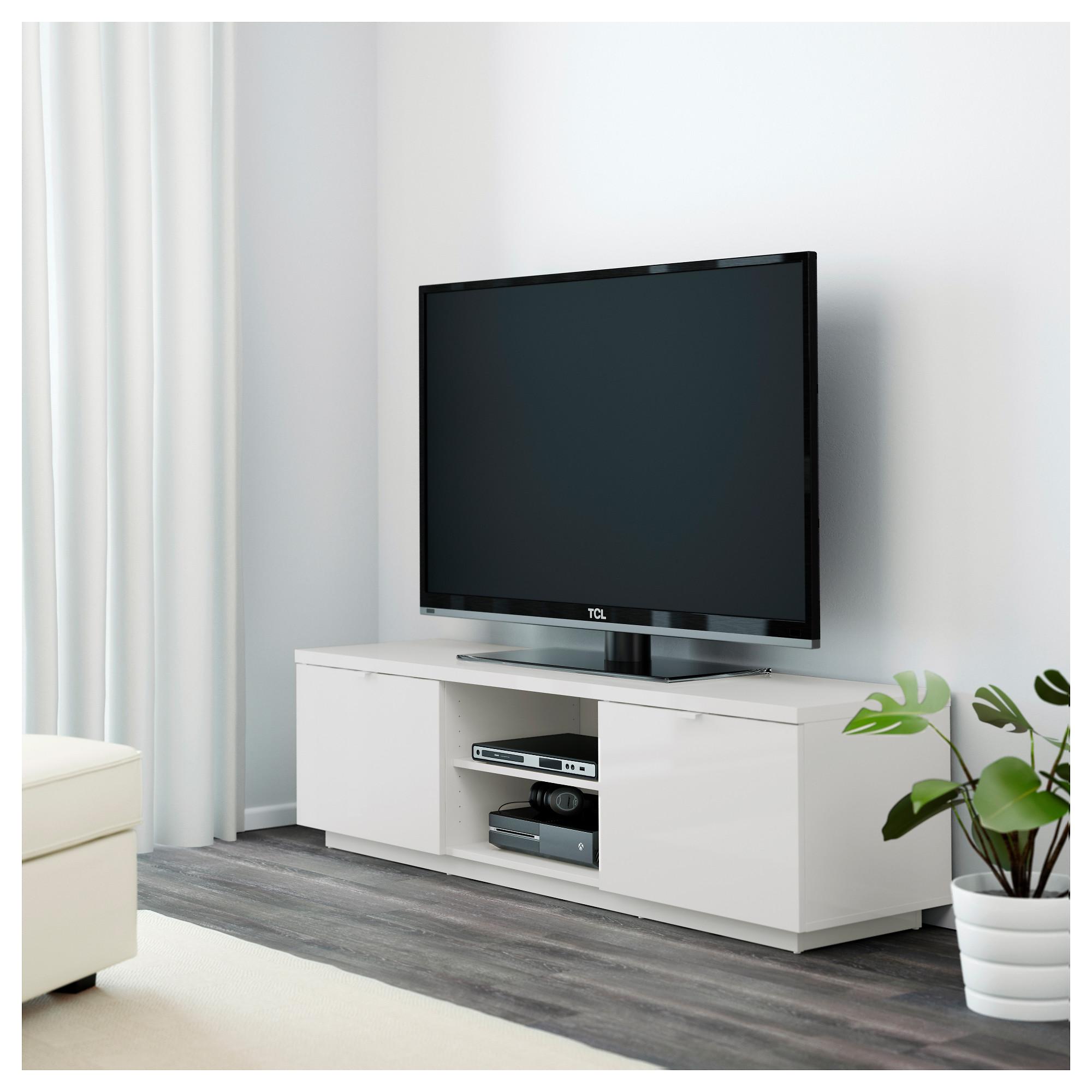 Porta Tv Ikea.Byas Tv Bench High Gloss White Ikea Hong Kong