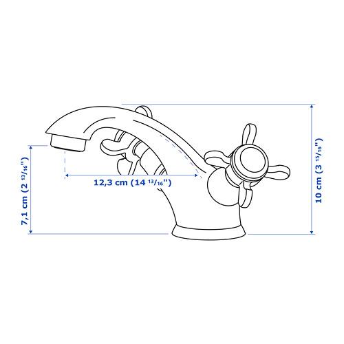 RUNSKÄR - 浴室冷熱水龍頭連過濾器, 黃銅色 | IKEA 香港及澳門 - PE766409_S4