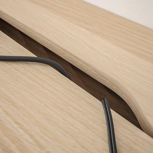ALEX - desk, 100x48cm, white stained/oak effect | IKEA Hong Kong and Macau - PE821749_S4