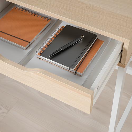ALEX - desk, 100x48cm, white stained/oak effect | IKEA Hong Kong and Macau - PE821753_S4
