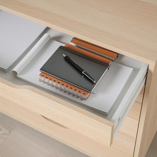 ALEX - drawer unit on castors, white stained/oak effect | IKEA Hong Kong and Macau - PE821773_S4