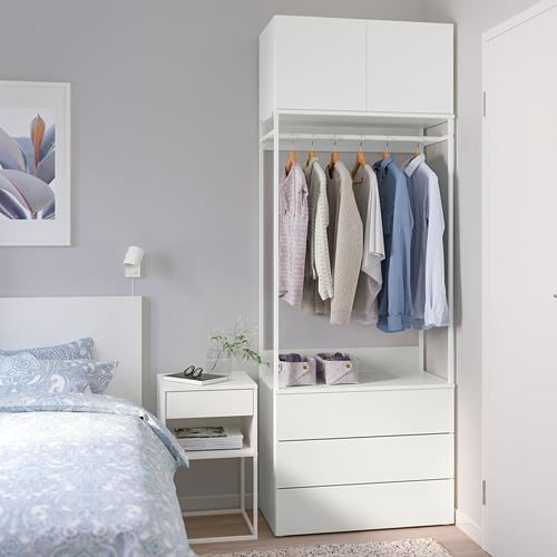 PLATSA - 雙門衣櫃連3格抽屜, 白色/Fonnes 白色 | IKEA 香港及澳門 - PE766158_S4