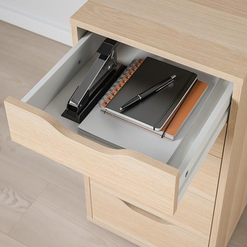 ALEX - drawer unit, 36x58x70 cm, white stained/oak effect | IKEA Hong Kong and Macau - PE821780_S4