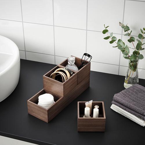 NÄBBIG - 貯物盒,4件套裝, 褐色 | IKEA 香港及澳門 - PE822782_S4