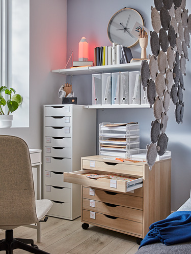 ALEX - drawer unit on castors, white stained/oak effect | IKEA Hong Kong and Macau - PH176890_S4