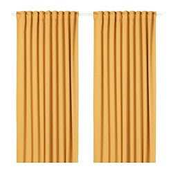 MAJGULL - 半遮光窗簾,一對, 黃色 | IKEA 香港及澳門 - PE676148_S3