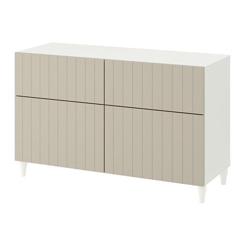 BESTÅ - storage combination w doors/drawers, white/Sutterviken/Kabbarp grey-beige | IKEA Hong Kong and Macau - PE782423_S4