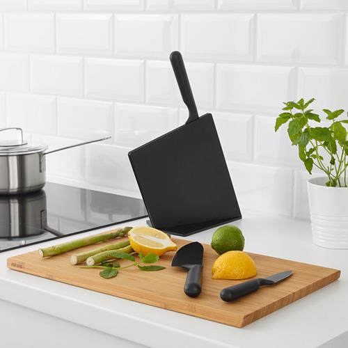 JÄMFÖRA knife block with 3 knives