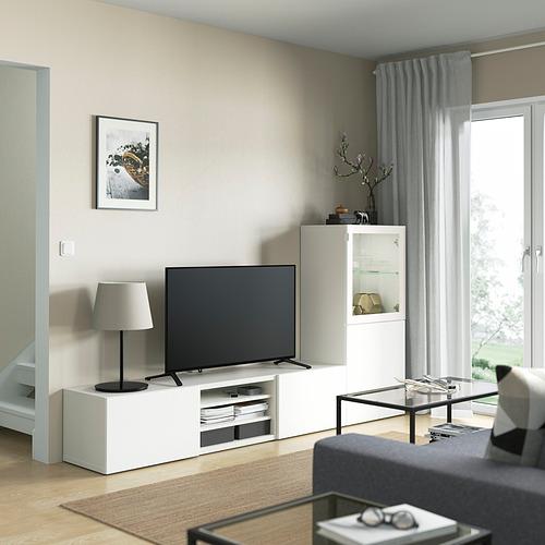 BESTÅ - 電視貯物組合/玻璃門, white Glassvik/Laxviken white | IKEA 香港及澳門 - PE821880_S4