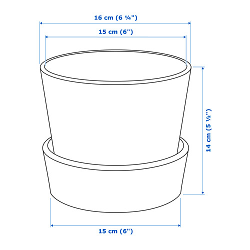 INGEFÄRA - 花盆連底碟, 戶外/赤陶   IKEA 香港及澳門 - PE717282_S4