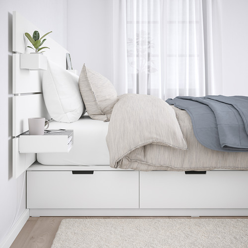 NORDLI - bed frame w storage and headboard, queen | IKEA Hong Kong and Macau - PE677853_S4