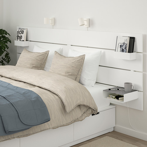 NORDLI - bed frame w storage and headboard, double | IKEA Hong Kong and Macau - PE677855_S4