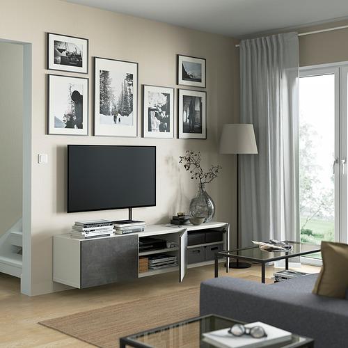 BESTÅ - 電視几連門, white/Kallviken dark grey | IKEA 香港及澳門 - PE821971_S4
