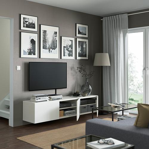 BESTÅ - 電視几連門, white/Laxviken white | IKEA 香港及澳門 - PE821923_S4