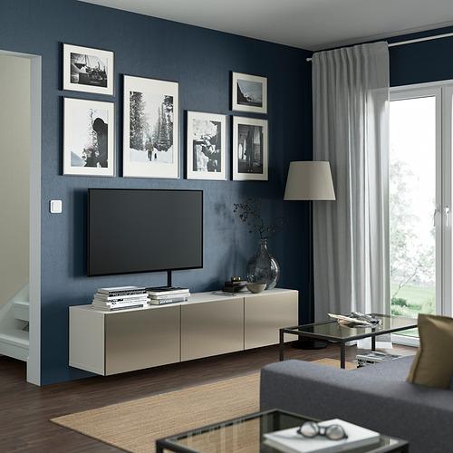 BESTÅ - 電視几連門, white/Riksviken light bronze effect | IKEA 香港及澳門 - PE821926_S4