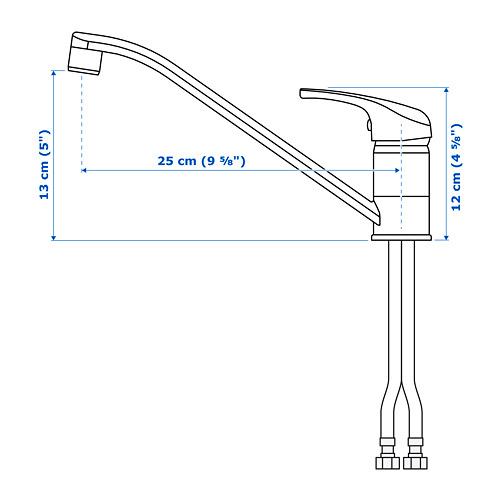 LAGAN - 單桿廚房冷熱水龍頭, 鍍鉻 | IKEA 香港及澳門 - PE676379_S4