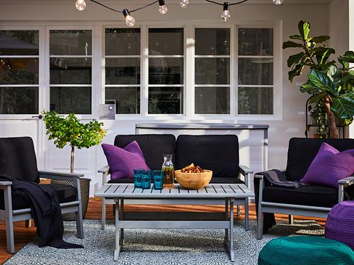 BONDHOLMEN - armchair, outdoor, grey stained | IKEA Hong Kong and Macau - PH168863_S4