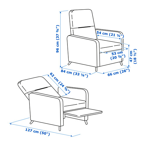 GISTAD - recliner, Bomstad black | IKEA Hong Kong and Macau - PE766322_S4