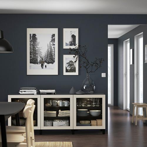 BESTÅ - 貯物組合連門, black-brown Sindvik/Stubbarp/light grey-beige clear glass   IKEA 香港及澳門 - PE822153_S4