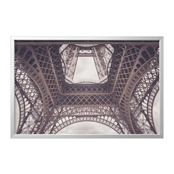 BJÖRKSTA - picture with frame, underneath the Eiffel Tower/aluminium-colour   IKEA Hong Kong and Macau - PE822274_S3
