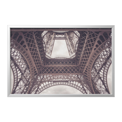 BJÖRKSTA - 畫連框, 巴黎鐵塔下/鋁色 | IKEA 香港及澳門 - PE822274_S4