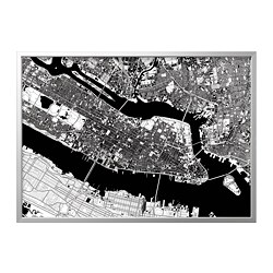 BJÖRKSTA - picture with frame, Manhattan from above/aluminium-colour   IKEA Hong Kong and Macau - PE822329_S3