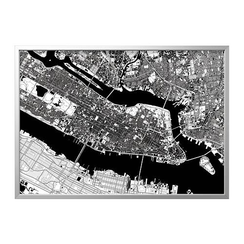 BJÖRKSTA - 畫連框, 俯瞰曼克頓/鋁色   IKEA 香港及澳門 - PE822329_S4
