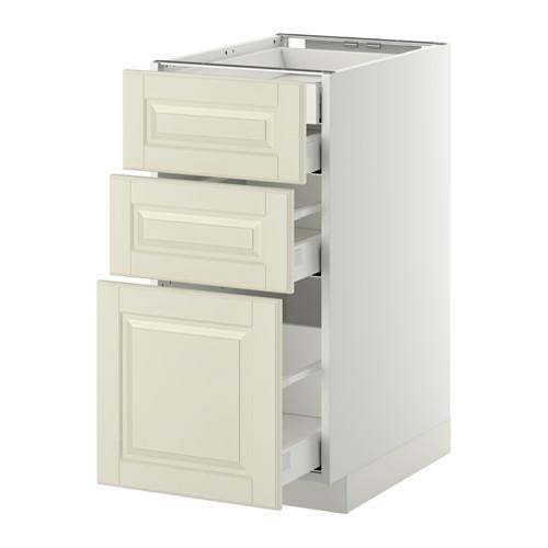 METOD - base cb 3 frnts/2 low/1 md/1 hi drw, white Maximera/Bodbyn off-white | IKEA Hong Kong and Macau - PE350350_S4