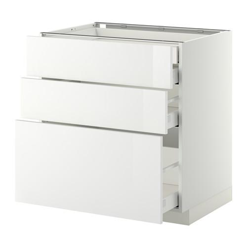 METOD - base cb 3 frnts/2 low/1 md/1 hi drw, white Maximera/Ringhult white | IKEA Hong Kong and Macau - PE350405_S4