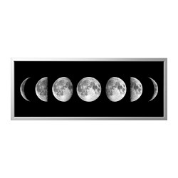 BJÖRKSTA - picture with frame, lunar phases/aluminium-colour   IKEA Hong Kong and Macau - PE822444_S3