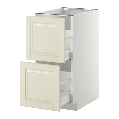 METOD - base cb 2 fronts/2 high drawers, white Maximera/Bodbyn off-white | IKEA Hong Kong and Macau - PE350692_S4