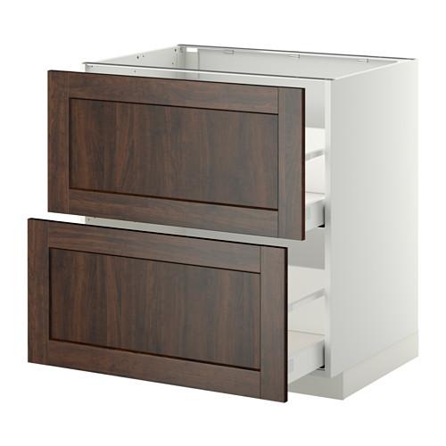 METOD - base cb 2 fronts/2 high drawers, white Maximera/Edserum brown | IKEA Hong Kong and Macau - PE350798_S4