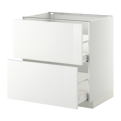 METOD - base cb 2 fronts/2 high drawers, white Maximera/Ringhult white | IKEA Hong Kong and Macau - PE350806_S4