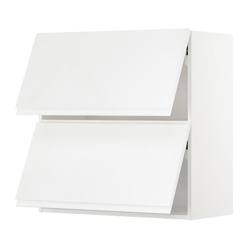 METOD - wall cab horizo 2 doors w push-open, white/Voxtorp high-gloss/white | IKEA Hong Kong and Macau - PE676724_S4