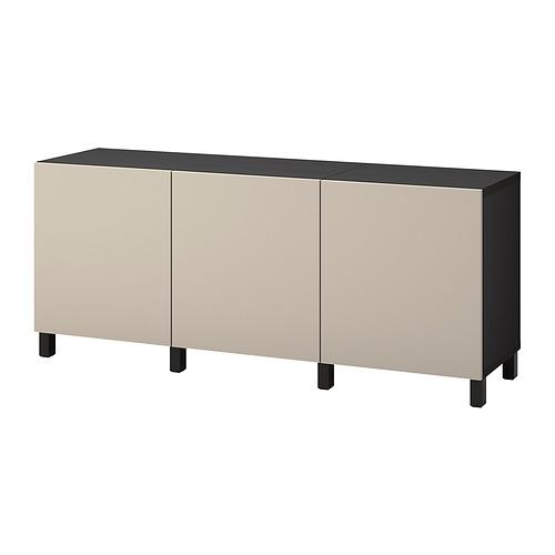 BESTÅ - 貯物組合連門, black-brown/Lappviken/Stubbarp light grey-beige   IKEA 香港及澳門 - PE822458_S4