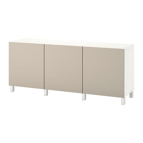 BESTÅ - 貯物組合連門, white/Lappviken/Stubbarp light grey-beige | IKEA 香港及澳門 - PE822469_S4