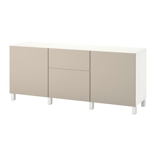 BESTÅ - 貯物組合連抽屜, white Lappviken/Stubbarp/light grey/beige | IKEA 香港及澳門 - PE822492_S4
