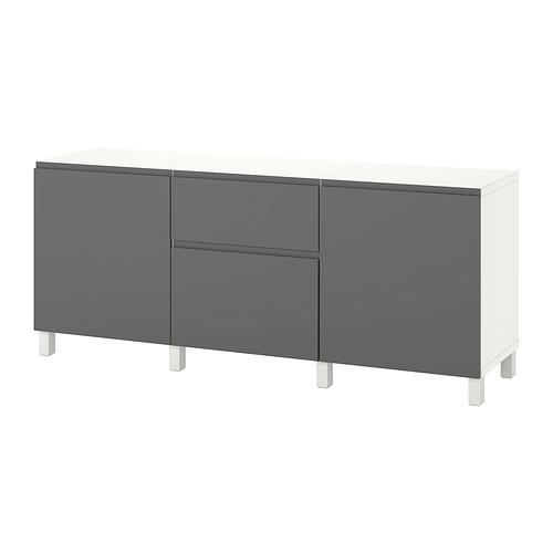 BESTÅ - 貯物組合連抽屜, white/Västerviken/Stubbarp dark grey   IKEA 香港及澳門 - PE822488_S4