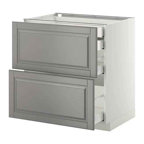 METOD - base cb 2 frnts/2 low/1 md/1 hi drw, white Maximera/Bodbyn grey | IKEA Hong Kong and Macau - PE350917_S4