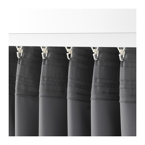 MAJGULL - 遮光窗簾,一對, 灰色 | IKEA 香港及澳門 - PE676986_S4
