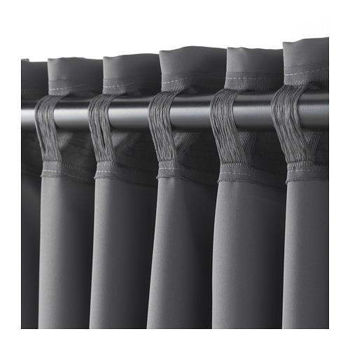MAJGULL - 遮光窗簾,一對, 灰色 | IKEA 香港及澳門 - PE676989_S4