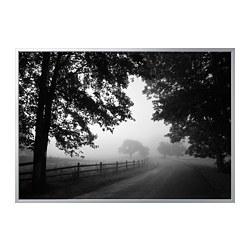 BJÖRKSTA - 畫連框, 朦朧的鄉村小路/鋁色   IKEA 香港及澳門 - PE822579_S3