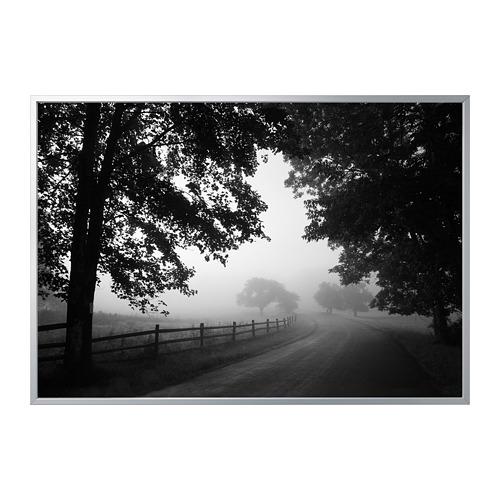 BJÖRKSTA - 畫連框, 朦朧的鄉村小路/鋁色 | IKEA 香港及澳門 - PE822579_S4