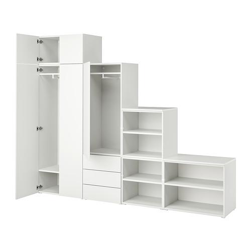 PLATSA - 五門衣櫃連三個抽屜, white/Fonnes white | IKEA 香港及澳門 - PE822583_S4